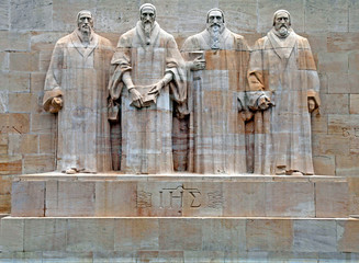 Reformation monument in Geneva, Switzerland.