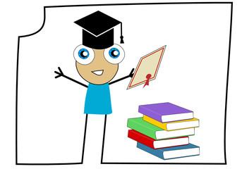 élève ayant réussi son examen