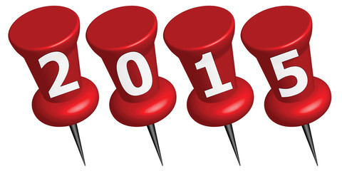 Pinnadeln Jahreszahl 2015