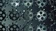 Zdjęcia na płótnie, fototapety, obrazy : Abstract rotating gears in dark blue color