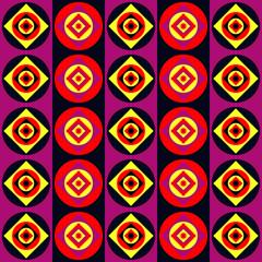 Seamless disco stripes pattern