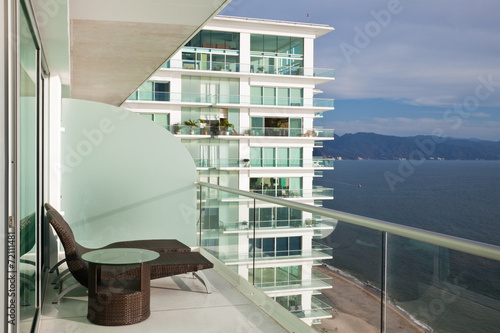 Modern Condo Balcony - 72111481