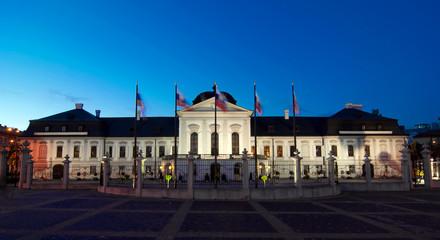 Presidential Palace at evening, Bratislava, Slovakia