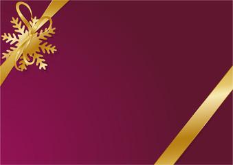 Gold Schleife Weihnachten