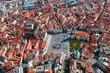 Aerial view of Staromestska squarein Prague, Czech Republic