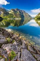 Mountain lake with mountain views