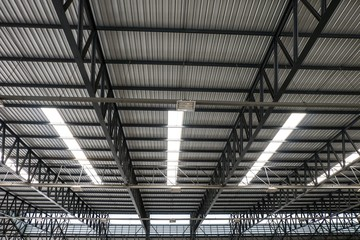 Metal roof structure and Channel light