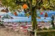 Leinwandbild Motiv Chinese restaurant on Lake Hallstatt