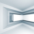 Abstract white square 3d interior background