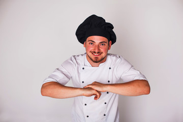 cook on white background relies