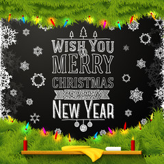 Wish you a merry christmas and happy new year message, written