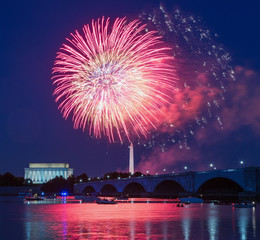Fireworks over Washington, DC