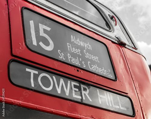 Canvas Londen rode bus Bus, London