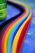 canvas print picture - Regenbogen Farbfächer