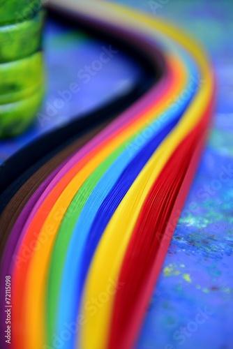 canvas print picture Regenbogen Farbfächer