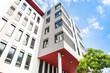 Leinwanddruck Bild - modernes Haus  - Gebäude in Frankfurt