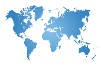 Modern world map illustration