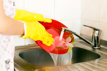 Process of washing of ware