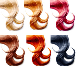 Hair palette. Hair Colors Set isolated on white background