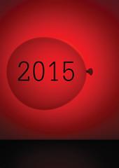 Calendar cover 2015, red balloon abstract. Easily customisable