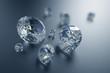 3d sparkling brilliants and diamonds background - 72117039