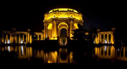 San Francisco Palace of the Fine Arts at Night