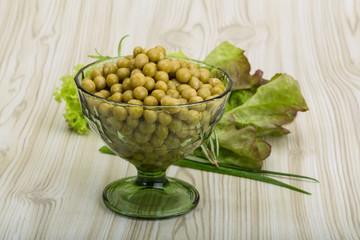 Marinated peas