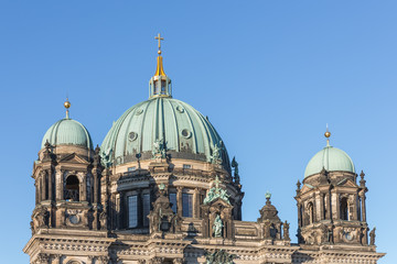 Rooftop of Berliner Dom against a blue sky, Germany