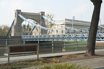 Widok na Most Grunwaldzki we Wrocławiu