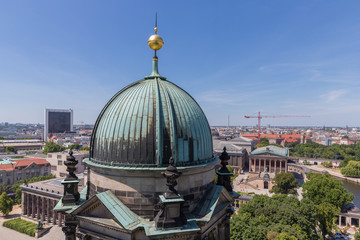 Aerial view from Berliner Dom over the centre of the city Berlin