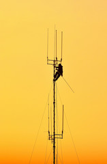 Working at height.