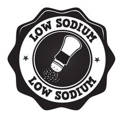 Low sodium label or stamp