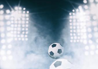 Soccer ball with Stadium lights