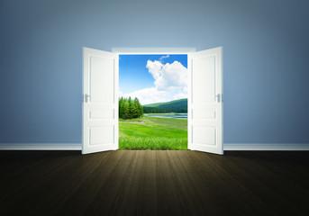 Nature behind the door