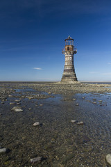 Ruined derelict lighthouse, Whiteford Sands, Gower Peninsula, So