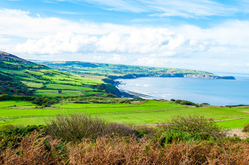 Scenic View over of Robin Hoods Bay, England