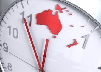 Australia Oceania continent countdown
