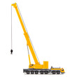 canvas print picture - toy truck crane isolated over white backgroung