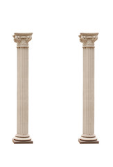 Columns isolated on a white background