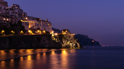 Amalfi's coast by night