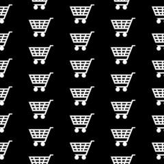 Cart icon seamless pattern