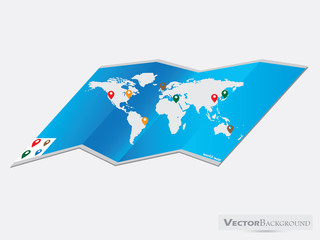 World map design on a white background, eps10