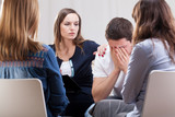 Group meeting at psychotherapist's room