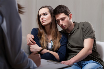 Sad marriage on psychotherapy