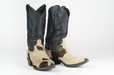 Cow Hide (Hair On) Cowboy Boots.
