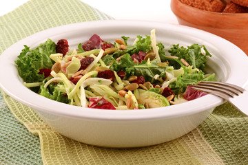 Kale and cabbage salad