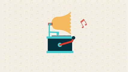 Phonograph music Animation, HD 1080