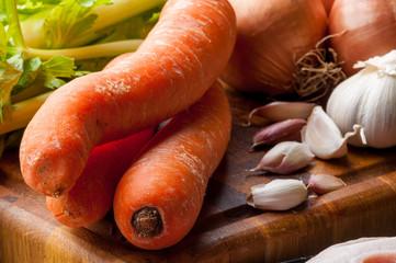 Verdure crude miste per minestrone