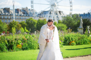 Just married couple in Paris