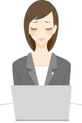法律関係の仕事をする女性 謝罪